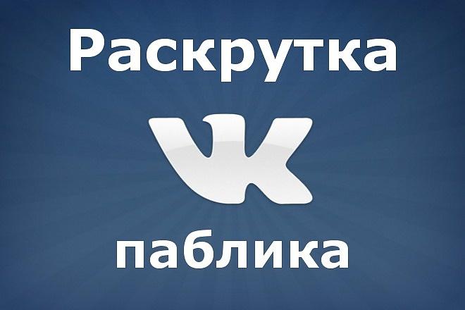 500 подписчиков в паблик ВК + активность 1 - kwork.ru