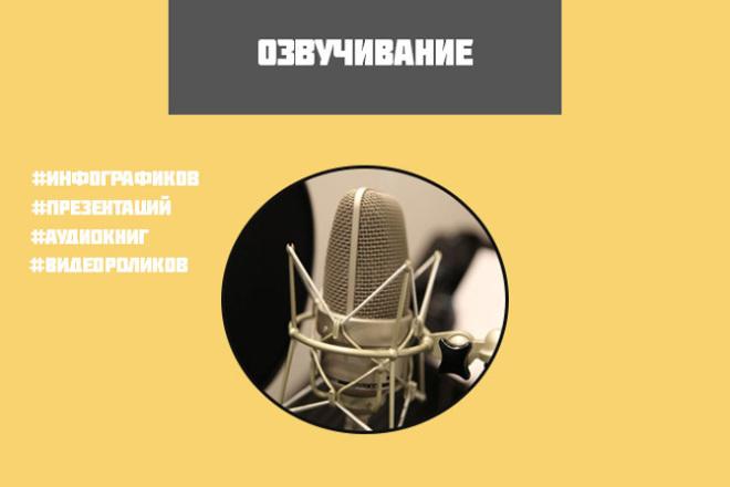 Озвучка любого текста на русском языке 1 - kwork.ru