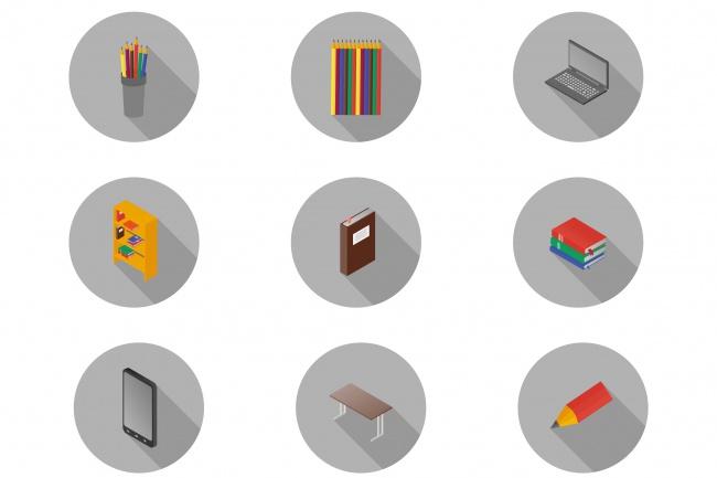Нарисую 10 иконок для вашего сайта или проектаБаннеры и иконки<br>Нарисую 10 иконок для вашего сайта или проекта, в любом стиле - изометрия, флэт, линейный дизайн и т.д. Все изображения уникальны - прорисовываются в одном экземпляре для вас.<br>