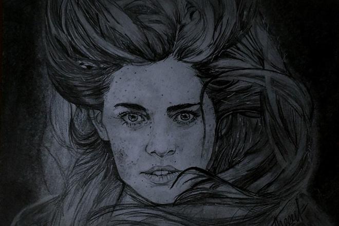 Напишу портрет по фотографии карандашом 1 - kwork.ru