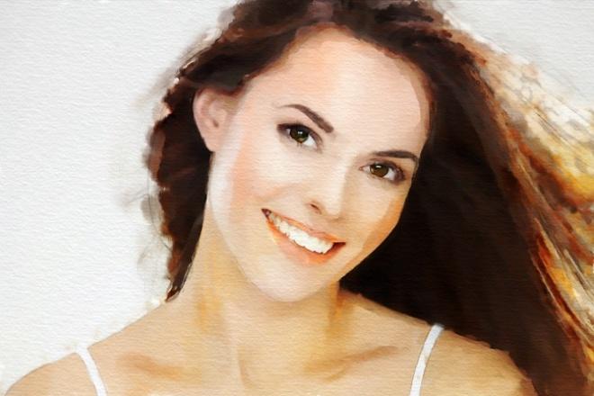 Создам портрет в стиле акварельного рисунка 1 - kwork.ru