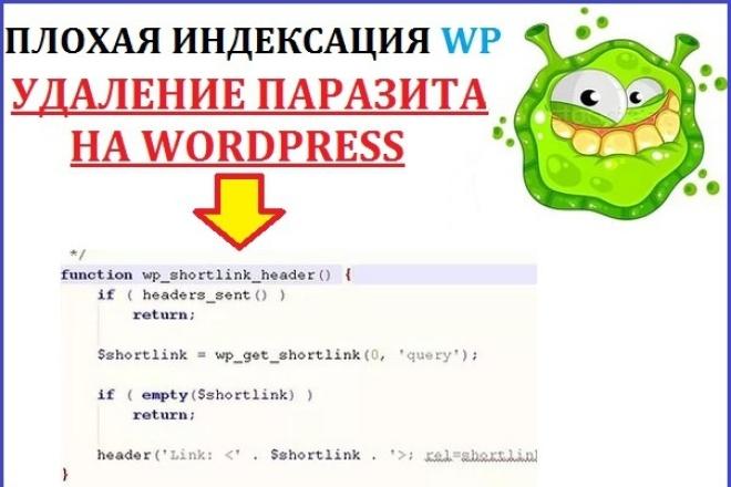 Удалю SHORTLINK на WordPress, для хорошей индексации в Яндексе 1 - kwork.ru