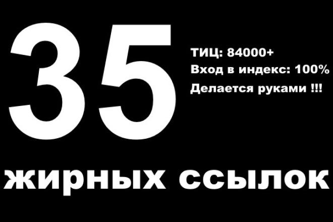 Добавлю 35 жирных ссылок руками 1 - kwork.ru
