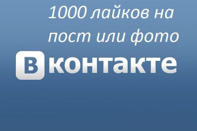 Сделаю 1000 лайков на фото или пост за 2 дня 1 - kwork.ru