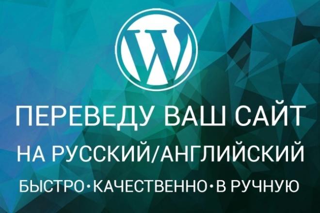 Переведу ваш сайт или плагин на wordpress 1 - kwork.ru