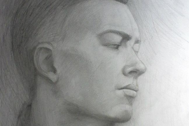 Портрет карандашом и другими средствами 1 - kwork.ru