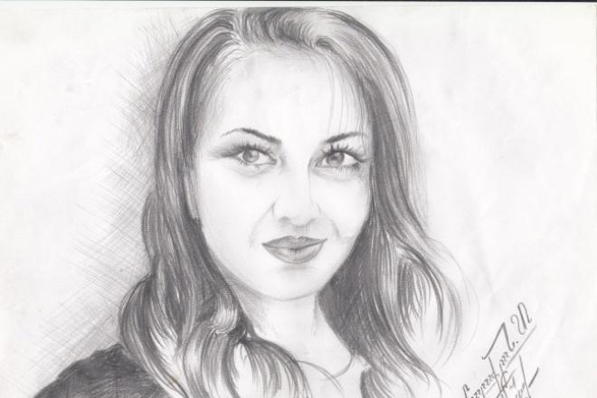 Нарисую Карандашом по вашей фотографии 1 - kwork.ru