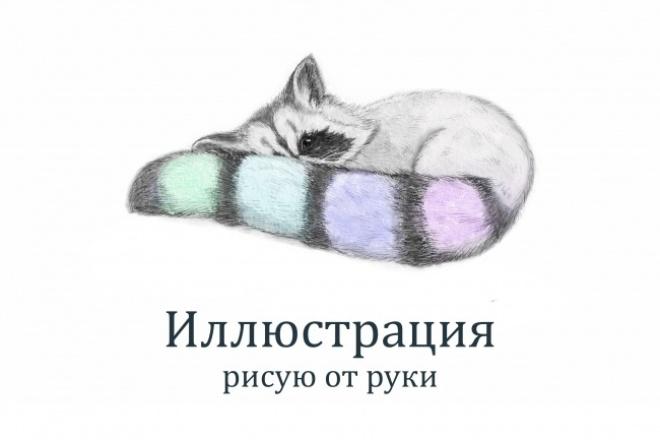 Акварельные и рисованные иллюстрации 1 - kwork.ru