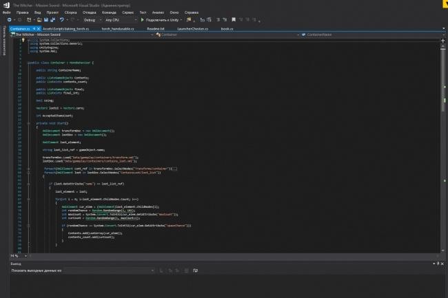 Напишу скрипты для Вашего проекта в Unity3d - C# 1 - kwork.ru