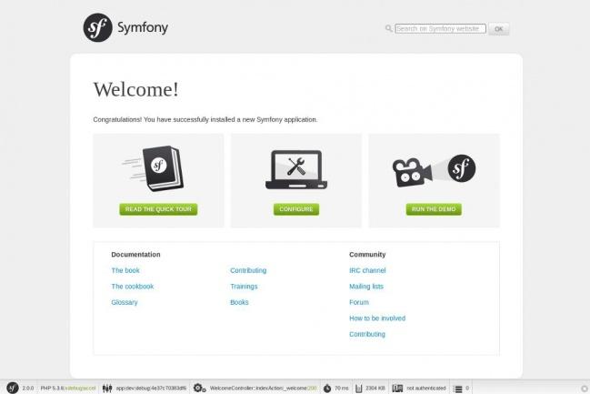 установлю Demo приложение на Symfony2 1 - kwork.ru
