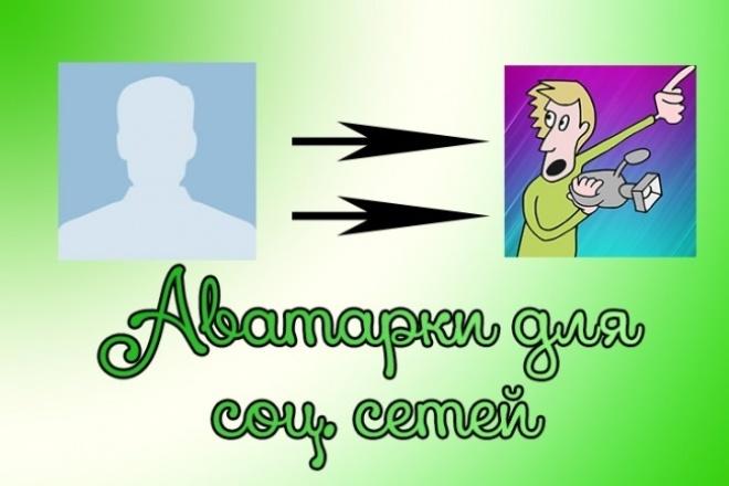 создаю аватарку для соц. сетей 1 - kwork.ru