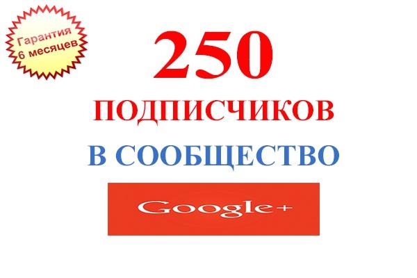 250 подписчиков в сообщество Google+. С гарантией на 6 месяцев 1 - kwork.ru