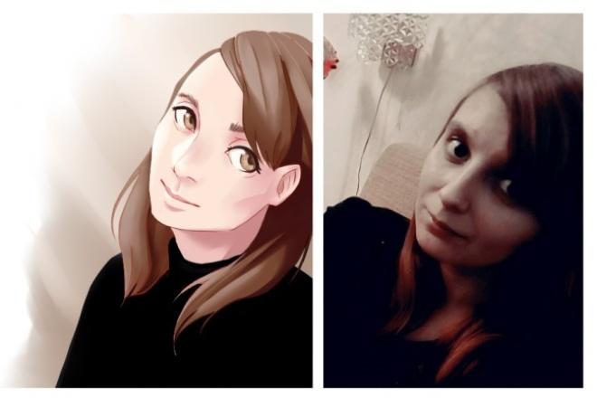 Нарисую персонажа/Стилизую портрет 1 - kwork.ru