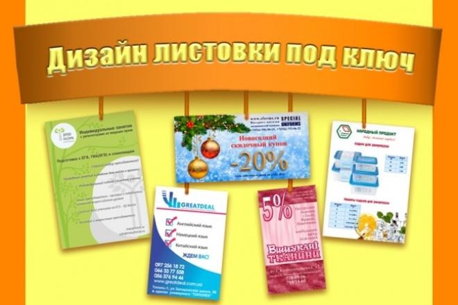 Сделаю стильный дизайн листовки 1 - kwork.ru