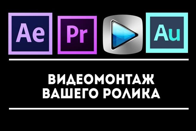 Профессиональный видеомонтаж. Длительность до 15 минут 1 - kwork.ru
