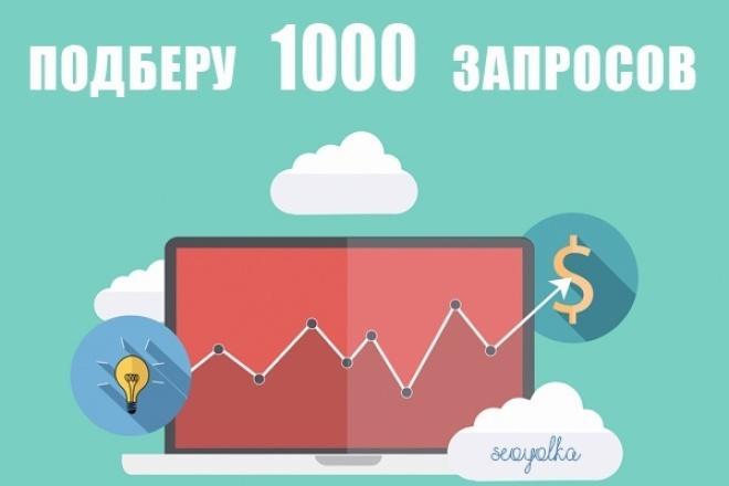 подберу 1000 запросов по тематике сайта заказчика 1 - kwork.ru