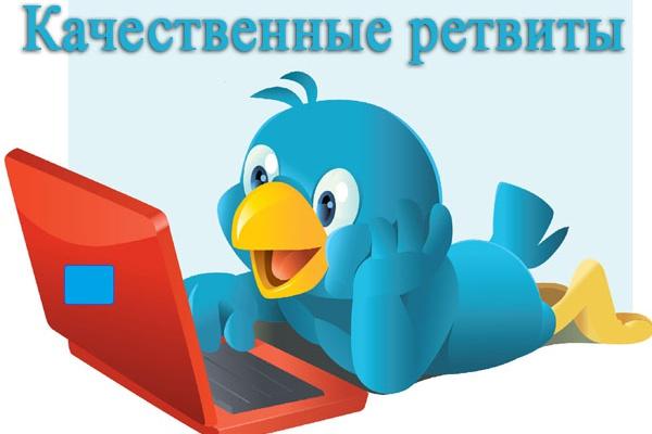 Качественные 1500 ретвитов вашего твита 1 - kwork.ru