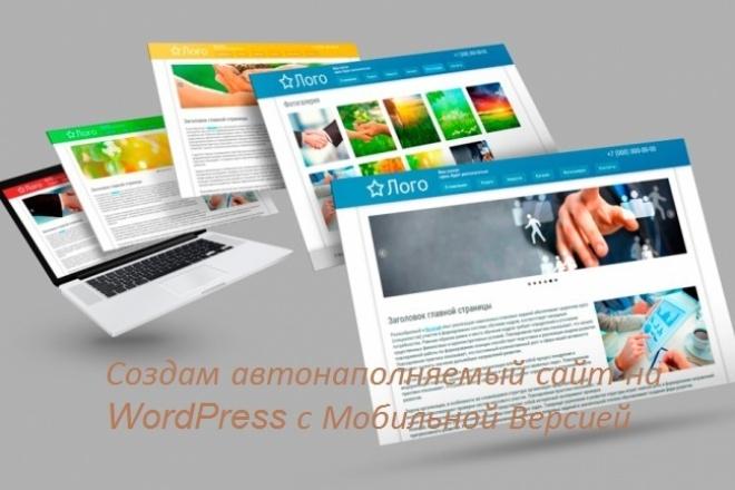 Создам автонаполняемый сайт на WordPress с Мобильной Версией 1 - kwork.ru