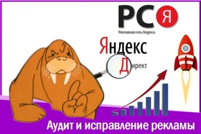 Профессиональный аудит и исправление рекламы в Яндекс Директ и РСЯ 1 - kwork.ru