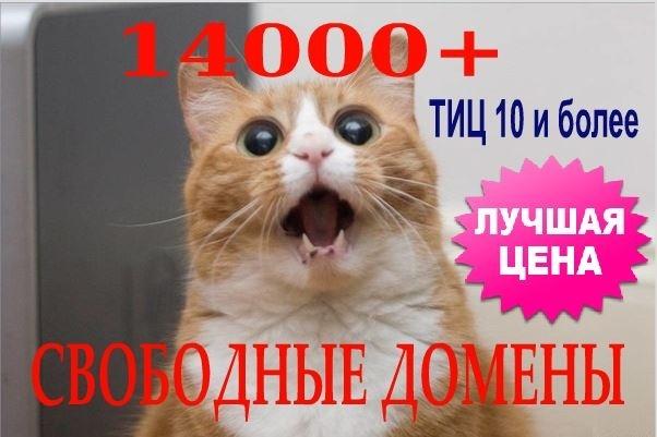 14 тысяч свободных доменов с ТИЦ и PR готовых к регистрации 1 - kwork.ru