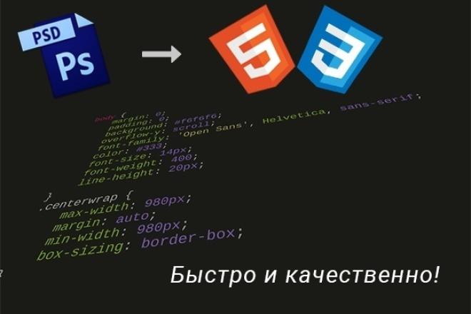 Верстка с PSD в html/CSS 1 - kwork.ru