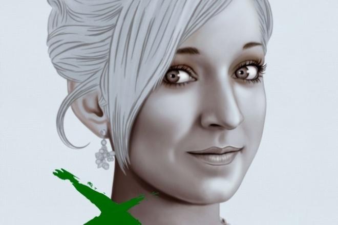 Нарисую портрет в такой стилистикеИллюстрации и рисунки<br>Нарисую портрет в данной стилистике (пример прилагается) В результате моей работы , Вы получите файл с которого сможете распечатать портрет на бумаге или на холсте!<br>