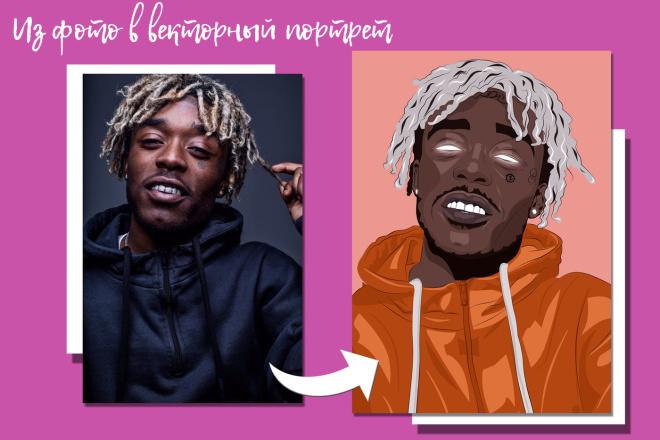 Векторный портрет 1 - kwork.ru