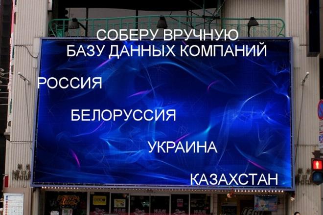Вручную соберу актуальную базу организации 1 - kwork.ru