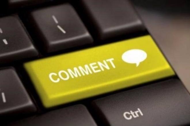 Напишу 55 комментариев на ваш сайт 1 - kwork.ru