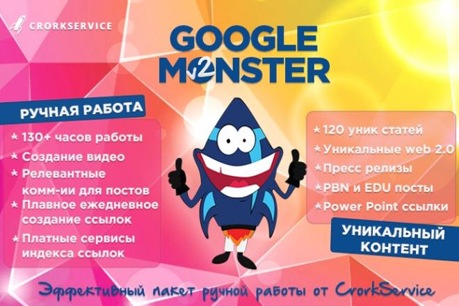 Google Monster пакет для роста позиций вашего сайта 1 - kwork.ru