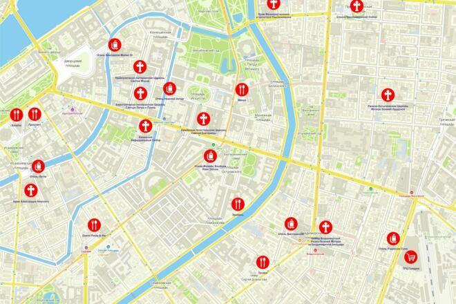 Создание широкоформатной карты города с нанесением объектов 25 - kwork.ru