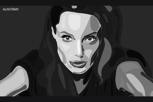 Нарисую cg - портрет в пятновой графике по вашему фото 1 - kwork.ru