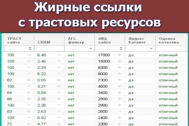 Жирные ссылки с трастовых ресурсов с высоким ИКС. Ручное размещение 1 - kwork.ru