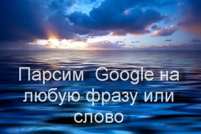 Парсим  Google на любую фразу или слово 1 - kwork.ru