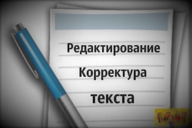 Корректура, редактирование текста 17 - kwork.ru