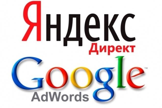 Настройка и ведение рекламных компаний в Google и Яндекс 1 - kwork.ru