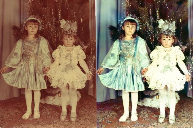Отреставрирую старые фото 1 - kwork.ru