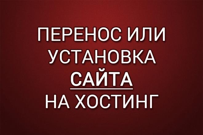 Перенос или установка сайта на хостинг 1 - kwork.ru