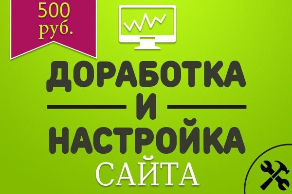Доработка и настройка сайта 1 - kwork.ru