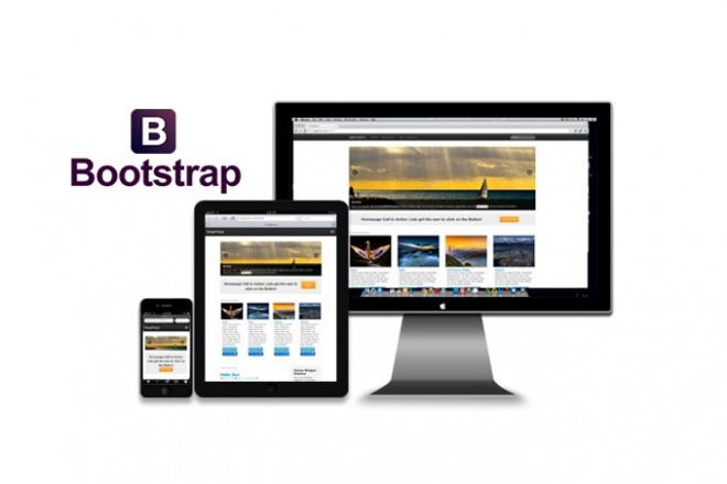 Создание адаптивного шаблона на Bootstrap 1 - kwork.ru