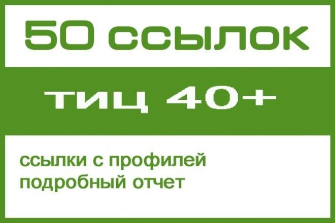 50 ссылок с тиц от 40 1 - kwork.ru