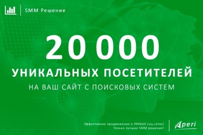 20 000 уникальных посетителей на Ваш сайт с поисковых систем 1 - kwork.ru
