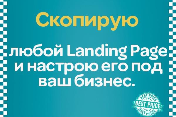 Сделаю копию любого Landing Page и настрою его 1 - kwork.ru