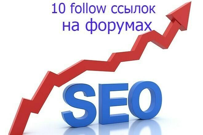 10 follow ссылок на форумах 1 - kwork.ru