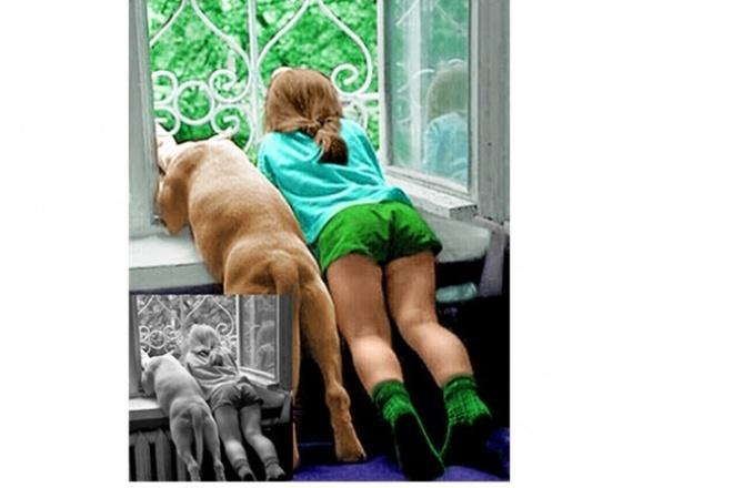 Оцветнение ч/б фотоОбработка изображений<br>Оцветнение черно - белой фотографии, учитываются пожелания заказчика. Оцветняю как в постельных тонах, так и в сочных красках.<br>