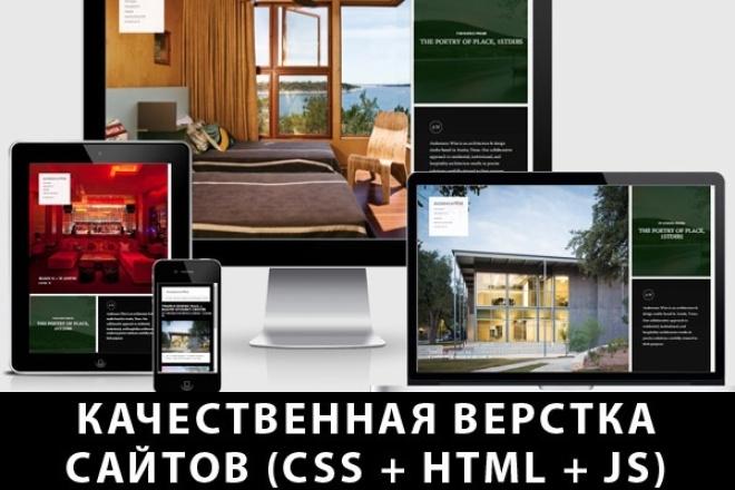 Кроссбраузерная валидная верстка сайта (html + css + js) 1 - kwork.ru