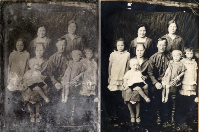 Восстановлю старые фотографии 1 - kwork.ru
