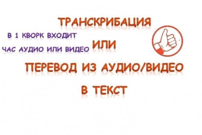 Транскрибация или перевод из аудио/видео в текст 1 - kwork.ru