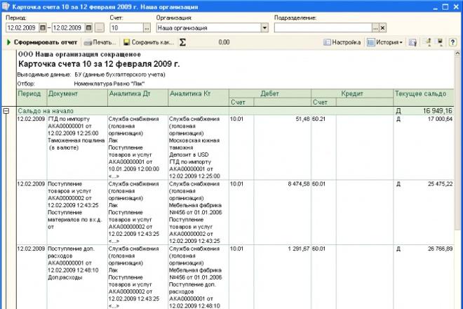 детальный анализ карточки 51 счета 1 - kwork.ru