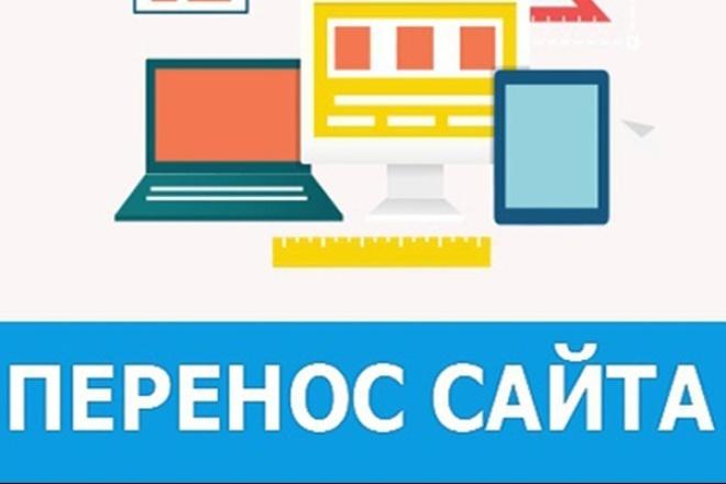 Перенос сайта и домена на новый хостинг/сервер 1 - kwork.ru